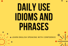 idioms and phrases